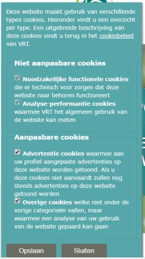 Sporza cookies info